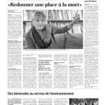 Article de journal paru dans Le Courrier